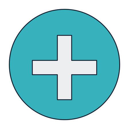 cross shape: Cross shape icon. Medical health care and hospital theme. Isolated design. Vector illustration