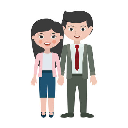 Couple cartoon icon. Relationship family love and romance theme. Isolated design. Vector illustration