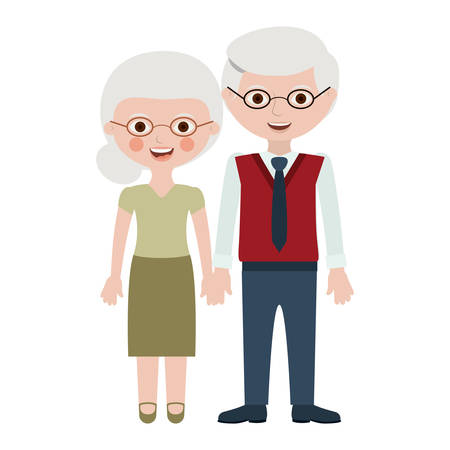 Couple of grandparents cartoon icon. Relationship family love and romance theme. Isolated design. Vector illustration
