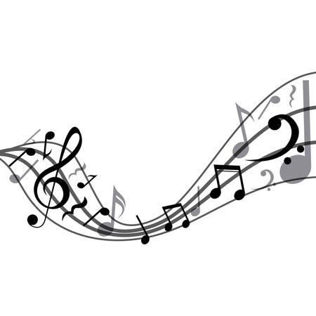 Musica icona della nota. pentagramma melodia del suono e il tema musicale. progettazione isolata. illustrazione di vettore Archivio Fotografico - 66477842