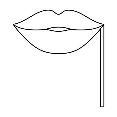 event party: Mouth icon. Celebration fair carnival party and event theme. Isolated design. Vector illustration