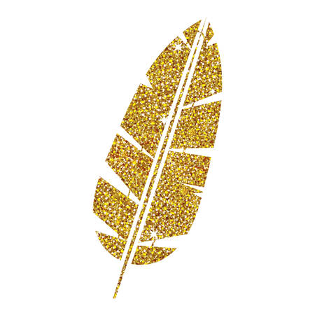 plume: Feather icon. Plume bird decoration and nature theme. Isolated design. Vector illustration