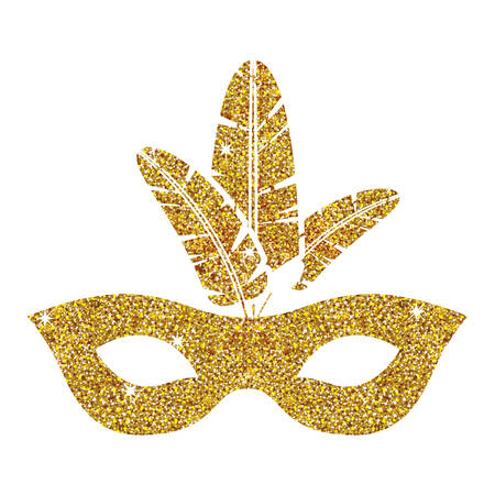 event party: Mask icon. Celebration fair carnival party and event theme. Isolated design. Vector illustration