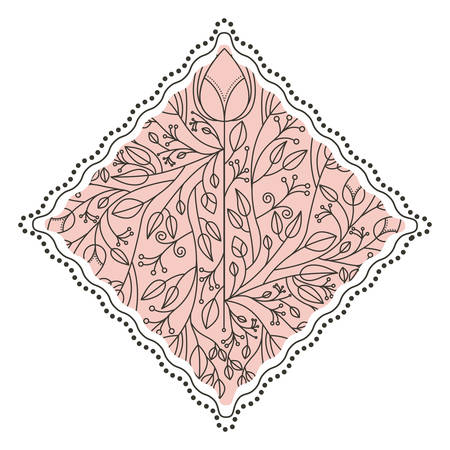 Leaves ornament inside frame icon banner sticker badge and decorative royalty free cliparts vectors and stock illustration image 66625513