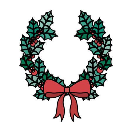 corona navidad: icono de la corona. decoración de la temporada de Navidad y tema de la celebración. diseño aislado. ilustración vectorial