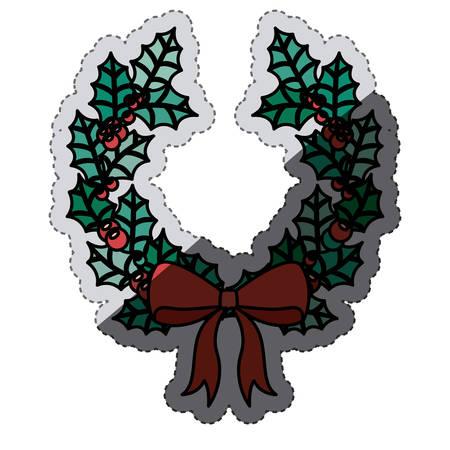 corona navidad: Crown icon. Christmas season decoration and celebration theme. Isolated design. Vector illustration Vectores
