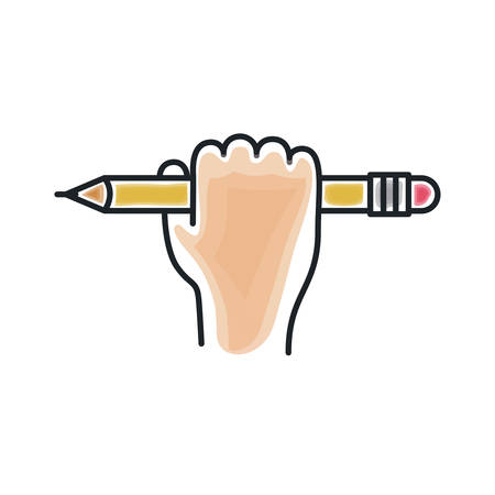secretarial: Pencil draw icon. Tool write office object and instrument theme. Isolated design. Vector illustration