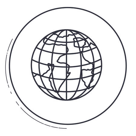 cartography: Planet sphere icon. Earth world map and cartography theme. Isolated design. Vector illustration Illustration