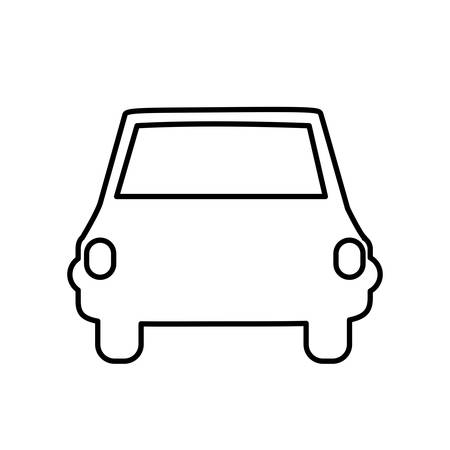 Car vehicle icon. Transportation travel trip and delivery theme. Isolated design. Vector illustration Çizim