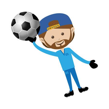 football soccer player icon image vector illustration design Illustration