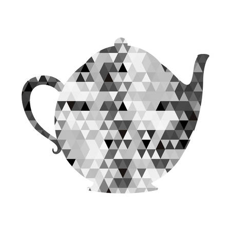 thermal: kettle or teapot triangle mosaic icon image vector illustration design