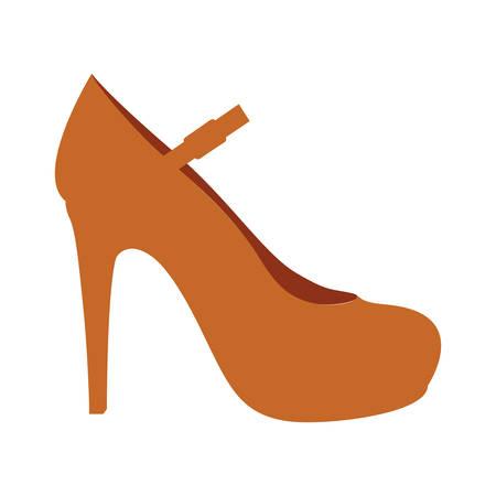 high heel shoe: high heel shoe icon image vector illustration design Illustration