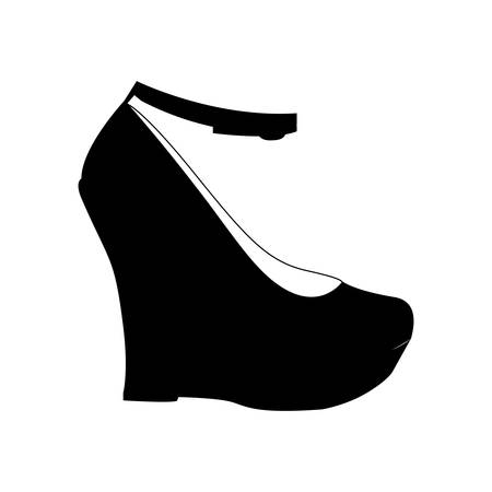 foot gear: wedge shoe icon image vector illustration design