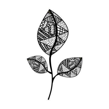 bohemian or boho style leaf  icon image vector illustration design