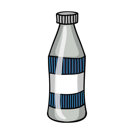 milkman: milk bottle icon image vector illustration design
