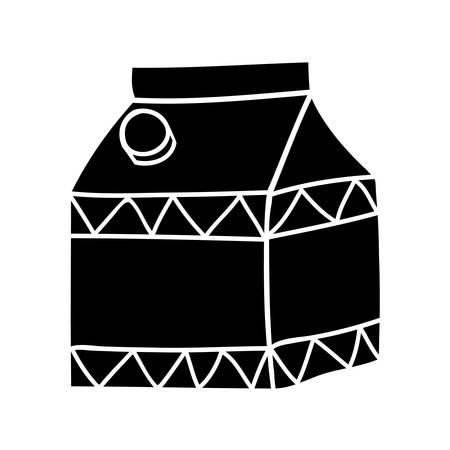 caja de leche: cartón de leche imagen icono de ilustración vectorial de diseño