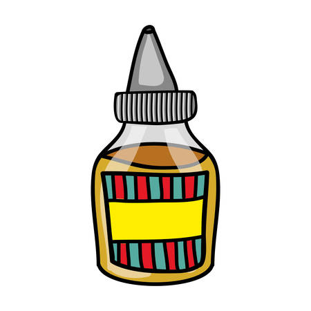 dipped: sauce bottle icon image vector illustration design