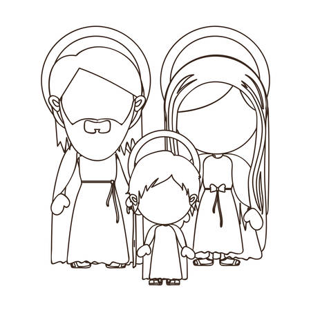 holy family: holy family icon image vector illustration design
