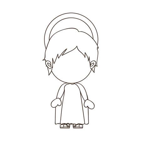 nativety: young jesus holy family icon image vector illustration design Illustration