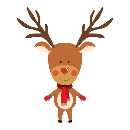 reindeer christmas icon image vector illustration design