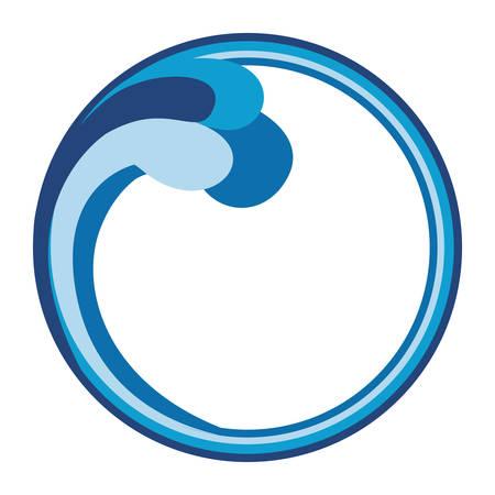 抽象的な水波円エンブレム アイコン画像ベクトル イラスト デザイン 写真素材 - 66634128