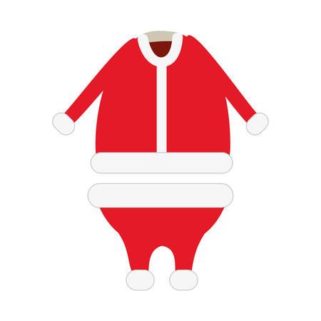 christmas costume: santa claus costume merry christmas icon image vector illustration design Illustration