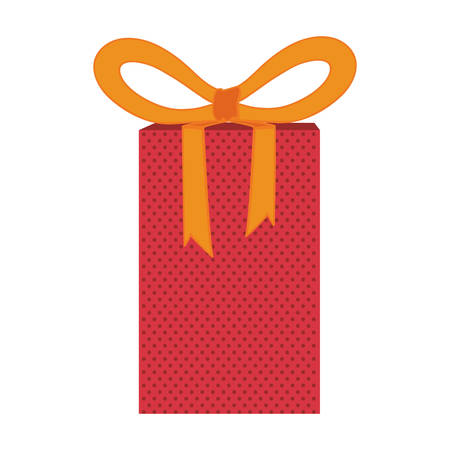gift box with bow icon image vector illustratoin design
