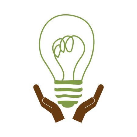eco friendly lightbulb icon image vector illustration design