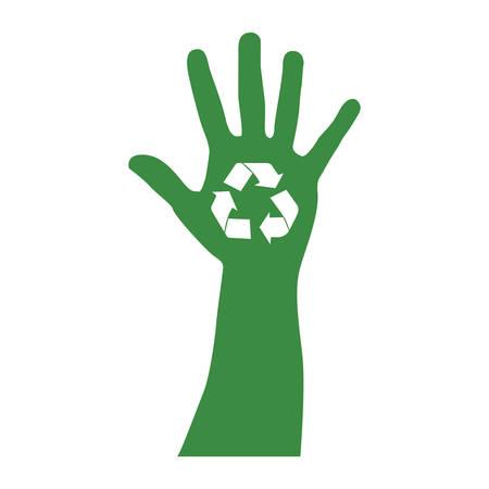 recycle arrows icon image vector illustration design
