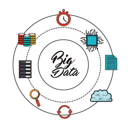 big data related icons emblem image vector illustration design Illustration