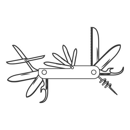temperino: silhouette profilo con taglierino illustrazione vettoriale