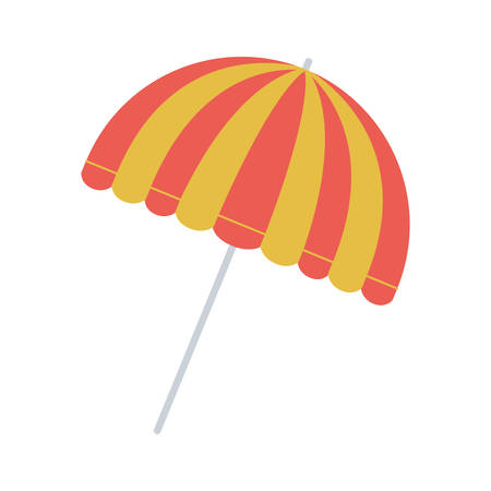 full color with parasol opened vector illustration Illustration