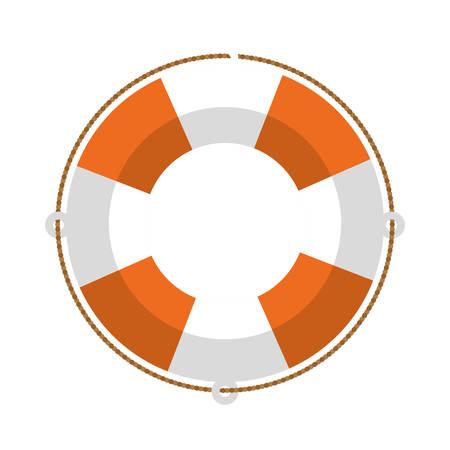 flotation: full color with Flotation hoop vector illustration