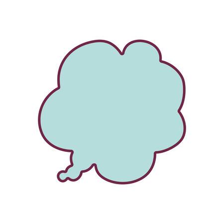 silhouette cloud callout background blue vector illustration Illustration