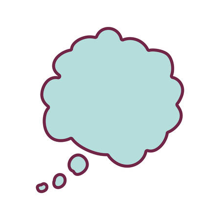 parley: silhouette cloud callout with cumulus background blue vector illustration Illustration
