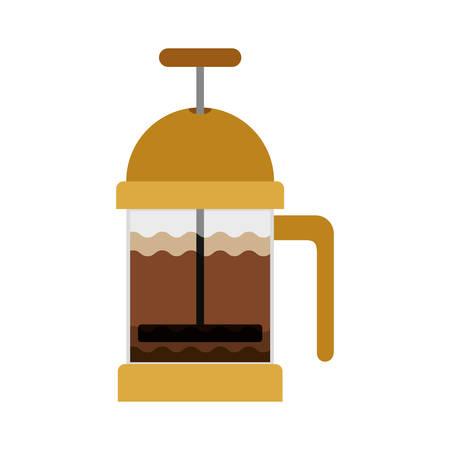 grinding: coffee grinding jarra with crank vector illustration