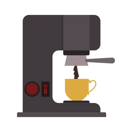 coffee maker: coffee maker with porcelain cup vector illustration Illustration