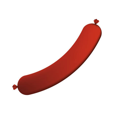 big sausage color with shadow vector illustration Illustration