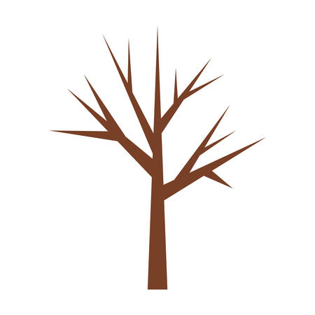tree trunk with branchs without leaves closeup vector illustration