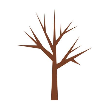 Tronc d'arbre avec branches sans feuilles closeup illustration vectorielle Banque d'images - 65889764