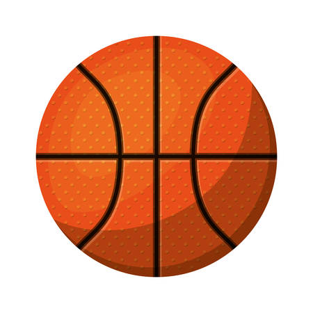 nba: silhouette color with basketball ball to front vector illustration Illustration