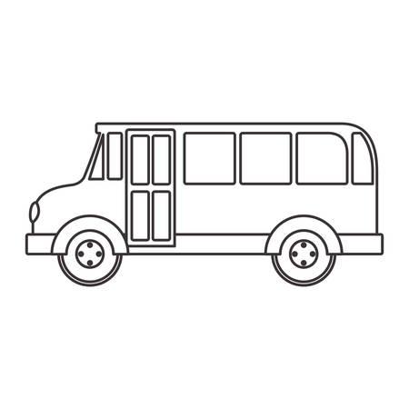buss: silhouette school bus with wheels vector illustration Illustration