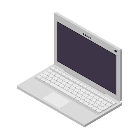 laptop screen: tech laptop screen with keyboard vector illustration