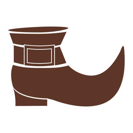 silhouette brown with leprechaun shoe vector illustration Illusztráció