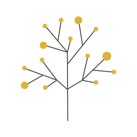 ramifications tree with stem and branches, vector illustration