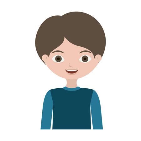 half body child with t-shirt vector illustration