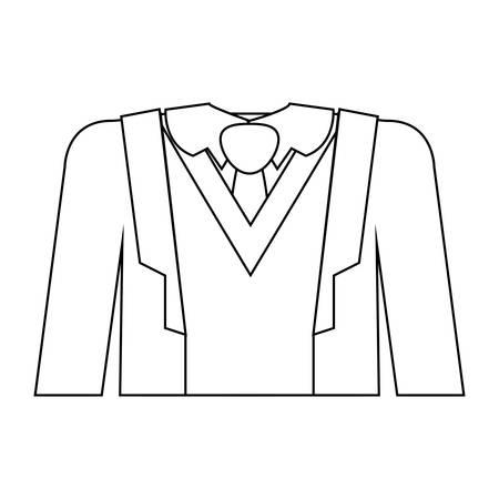 full formal attire with tie vector illustration 向量圖像