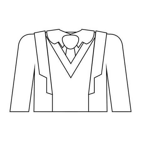 full formal attire with tie vector illustration Illustration