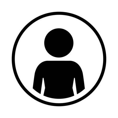 sphere standing: silhouette sphere of half body icon figure human vector illustration Illustration