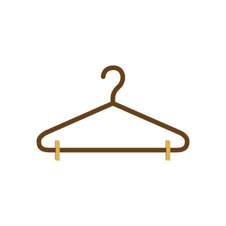shirts on hangers: silhouette with hook closet shirt vector illustration Illustration